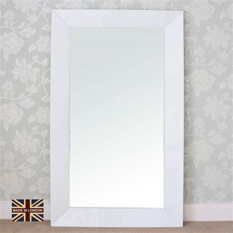 decorative mirror and glass modern white glass mirror by decorative mirrors online