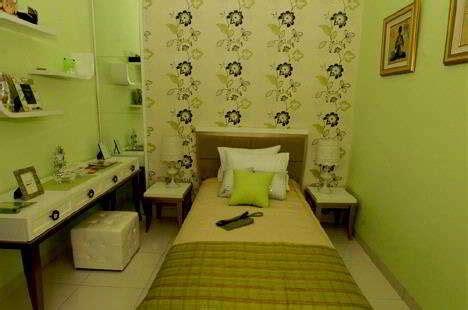 contoh warna wallpaper dindng kamar tidur minimalis