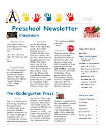 preschool newsletter sample free download