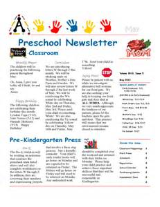 march newsletter template free preschool newsletter sle free