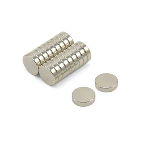 Thick Sheets by 10mm Dia X 2 5mm Thick N42 Neodymium Magnets 1 4kg Pull