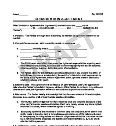 Cohabitation Agreement Template Free Cohabitation Forms Autos Post Cohabitation Agreement Ontario Template