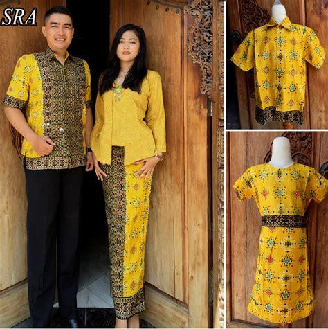 Batik Pesta Batik Pasangan Sarimbit Batik Prada Rosbela jual baju family sarimbit keluarga sepasang