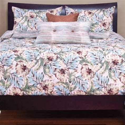 tropical print bedding panama beach bed cap comforter set