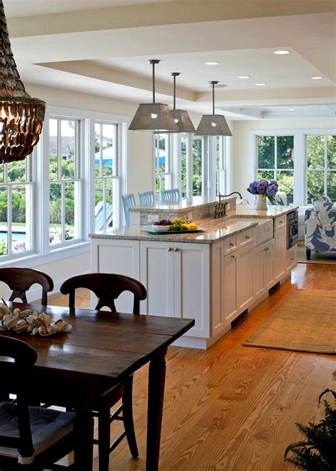 Cape And Island Kitchens by A Shingled House With Aqua Shutters On Cape Cod Hooked