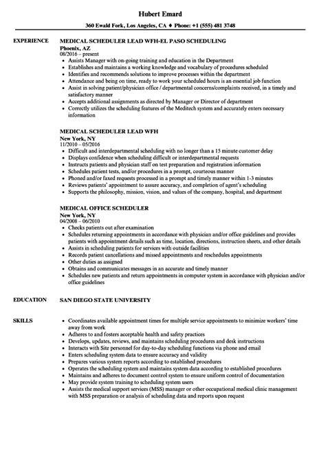 scheduler resume exles master scheduler resume exle project planner scheduler