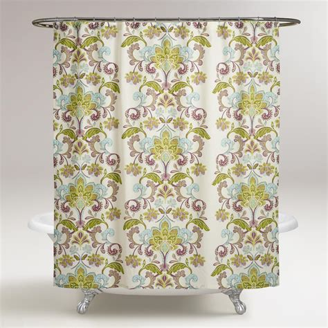 world market shower curtains baroque samantha shower curtain world market