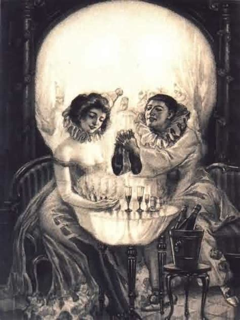 Vanity Painting Skull by Liz Adeles Spooky Optical Illusions