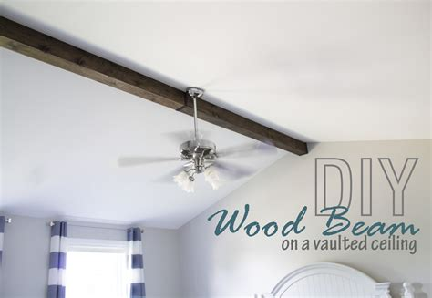 Diy Wood Beam Ceiling by How To Faux Wood Beam On A Vaulted Ceiling The Hazel