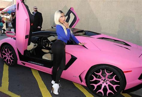 Pink Lamborghini Nicki Minaj S Lamborghini Aventador Gets A Pink Makeover