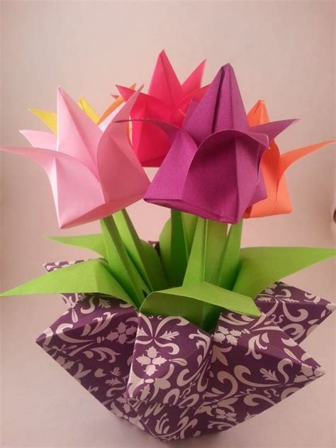 Tulip Flower Origami - 4778 best origami images on