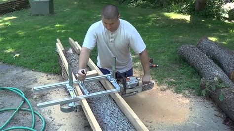 Alaskan Mkiii Chainsaw Milling Attachment Assembling And