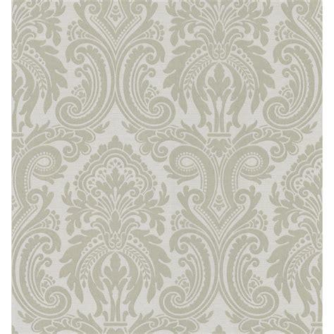 shop brewster wallcovering metallic damask wallpaper at
