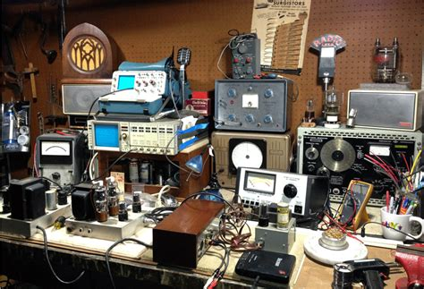 electronic test bench urban antique radio vintage hi fi repair