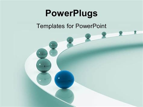 Powerpoint Template Leadership As A Metaphor With Marbles On A Grey Background 18653 Powerplugs Powerpoint Templates
