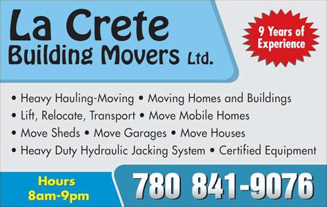 house movers louisiana la crete building movers ltd la crete ab po box 2101 canpages