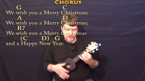 merry christmas ukulele lesson    chordslyrics youtube