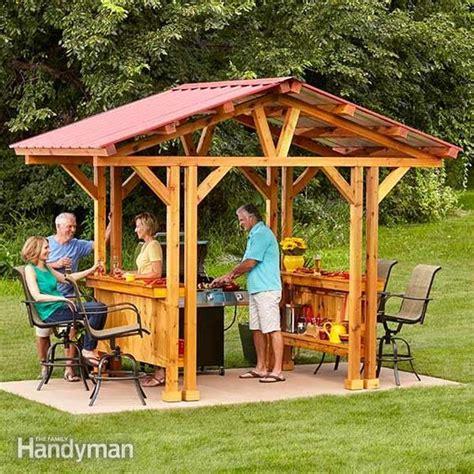 diy pavilion plans backyard gazebo plans gazebo and grill accessories on pinterest