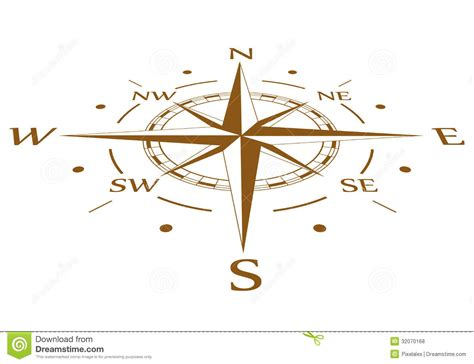 brown compass vector compressed stock vector image 32070168