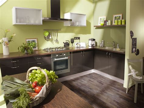 cuisine verte et marron cuisine vert marron cuisine nous a fait 224 l aise