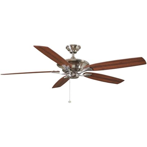60 inch ceiling fans home depot hton bay ashburton 60in indoor brushed nickel ceiling