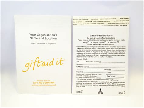 gift aid receipt template donation envelopes gift aid donation envelopes