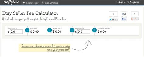etsy pattern site fees best etsy fee calculators icraftopia