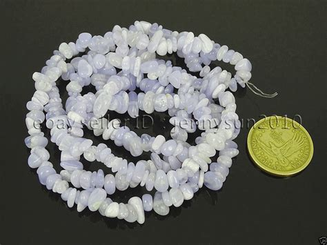 chalcedony blue lace agate gemstone 5 8mm chip