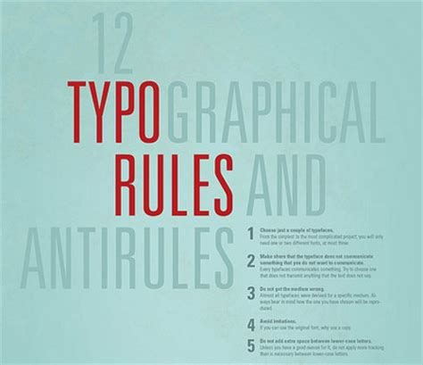 type layout rules magazine typography rules images