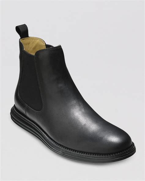 cole haan lunargrand chelsea boots in black for lyst