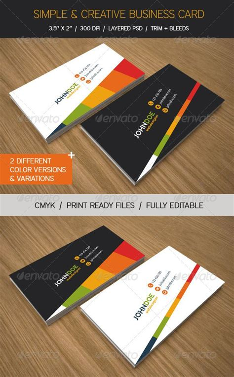3 75 x 2 25 business card template simple creative business cards graphicriver simple