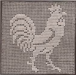 vintage crochet pattern to make mary fitch filet rooster
