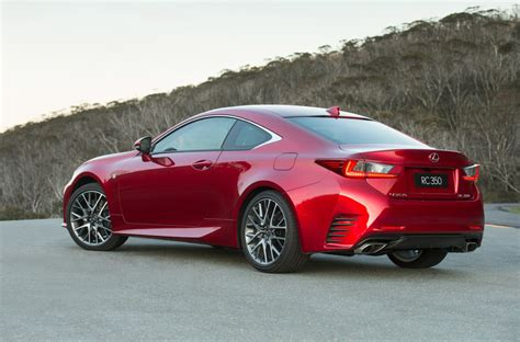 lexus rc 350 lexus rc 350 coupe now on sale in australia from 66 000