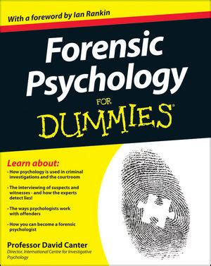 forensic psychology for dummies book information for dummies