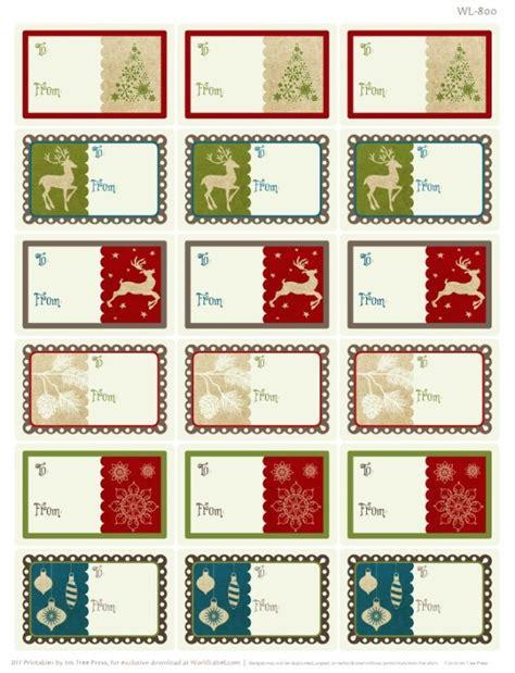 printable christmas label templates a rustic christmas printable label set worldlabel blog