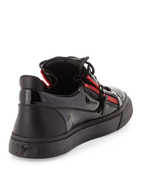 low top giuseppe sneakers giuseppe zanotti black leather low top sneakers