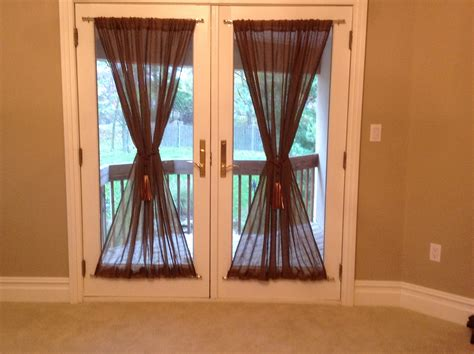 diy door curtains diy french door curtains fun and easy diy projects