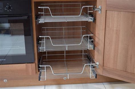 kitchen cabinet baskets kitchen cabinet cupboard pull out wire storage basket