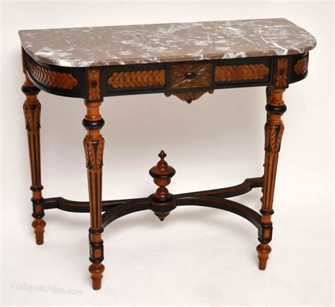 antique marble top table antique marble top ebonized walnut console table