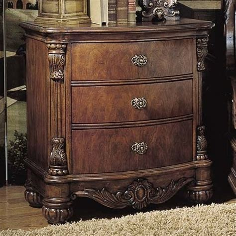 pulaski edwardian 3 drawer nightstand 242140 nightstands