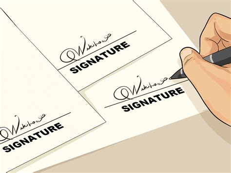 best way make a cool signature wikihow