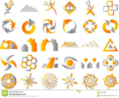 design elements icon abstract logo icon design elements royalty free stock