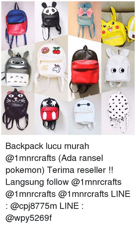 Backpack Lucu pin memes on