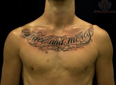 tattoo fonts for men lettering chest tattoos