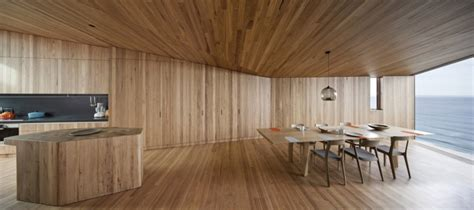 wood walls in house geometric beach house with zinc exterior wood interior