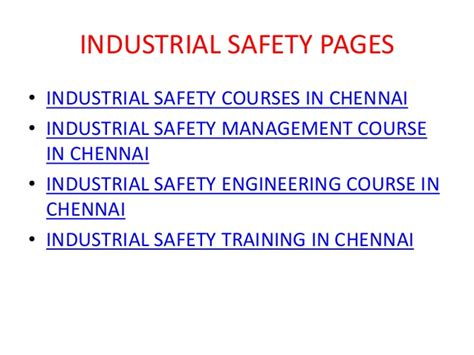 Week End Mba Courses Chennai by Nebosh Course In Chennai Safety Professionals