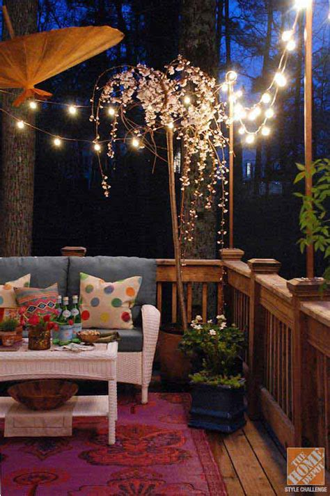 breathtaking yard  patio string lighting ideas