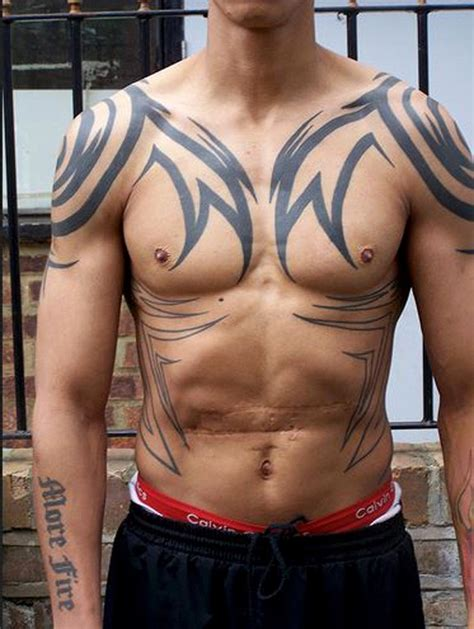 chest and back tattoo 52 most eye catching tribal tattoos