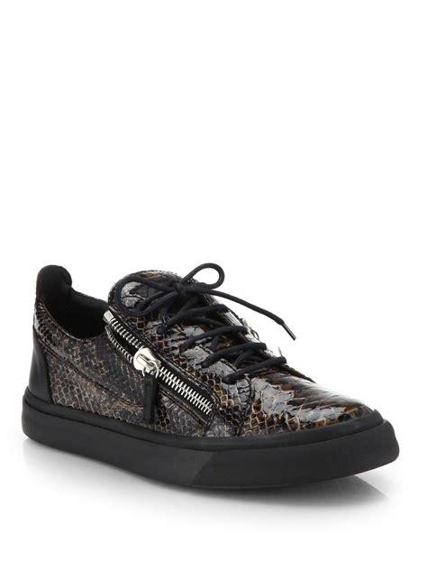 snakeskin sneakers mens giuseppe zanotti snakeskin embossed leather lace up