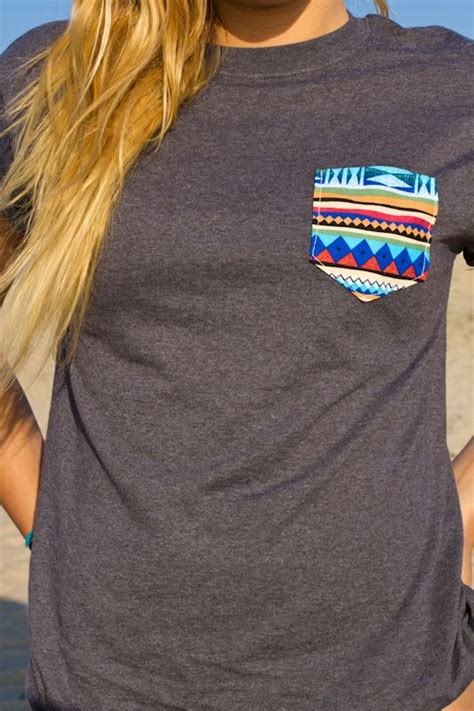 plain t shirt with pattern pocket what i m loving today your weekly pins